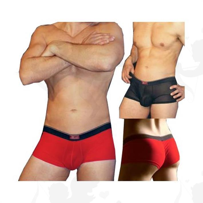 Boxer tul elastizado ajustado