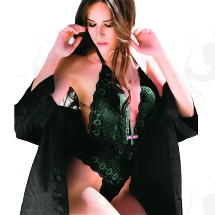 Cód: GLR02N - Body Love Roses Negro - $ 1440