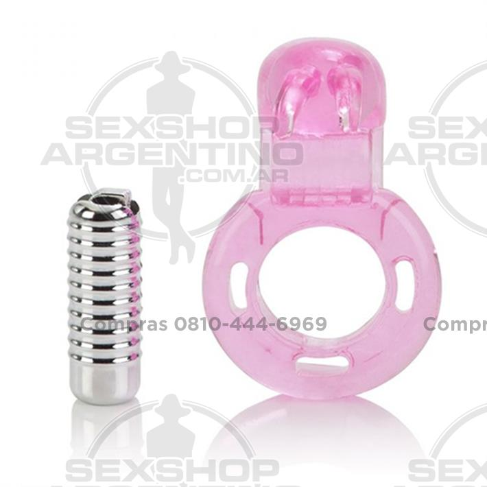 - Anillo mini conejo con vibrador para mantener la erección
