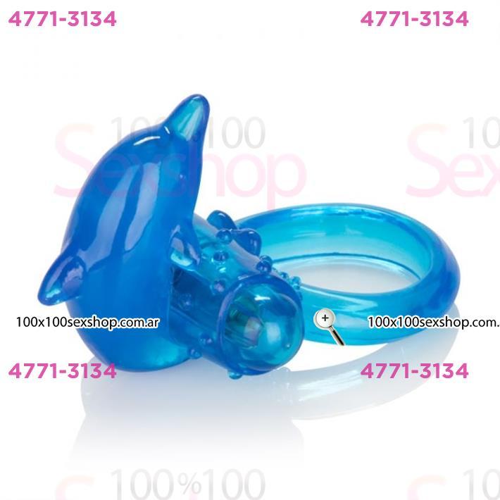 Cód: CA IMA143 - Anillo vibrador con estimulador delfín - $ 2250