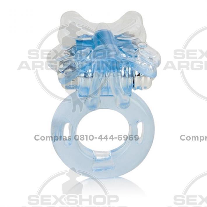 - Anillo vibrador con estimulador mini Mariposa