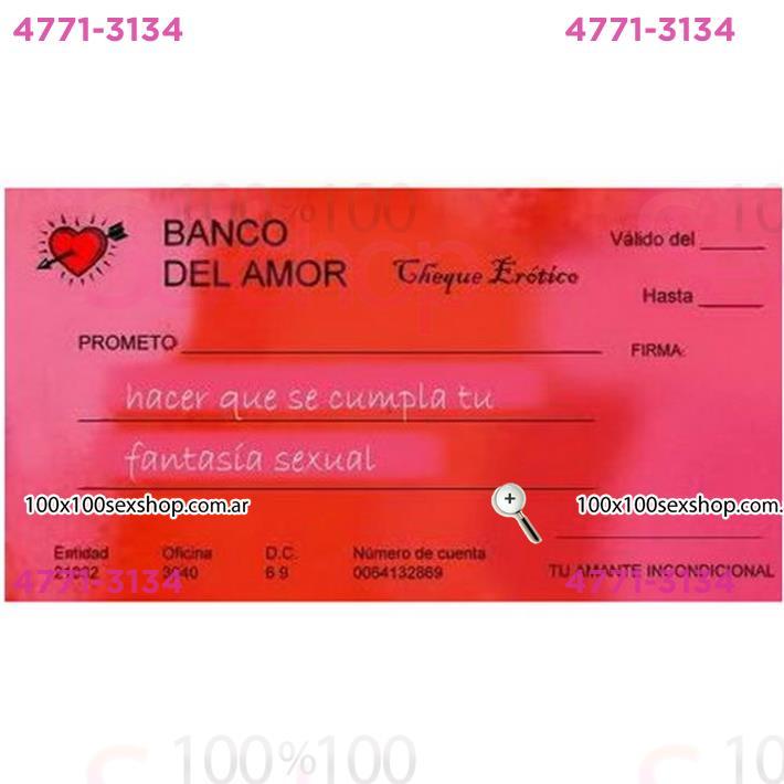 Cód: CA JUECHEQUERAS - Chequera Erotica - $ 175