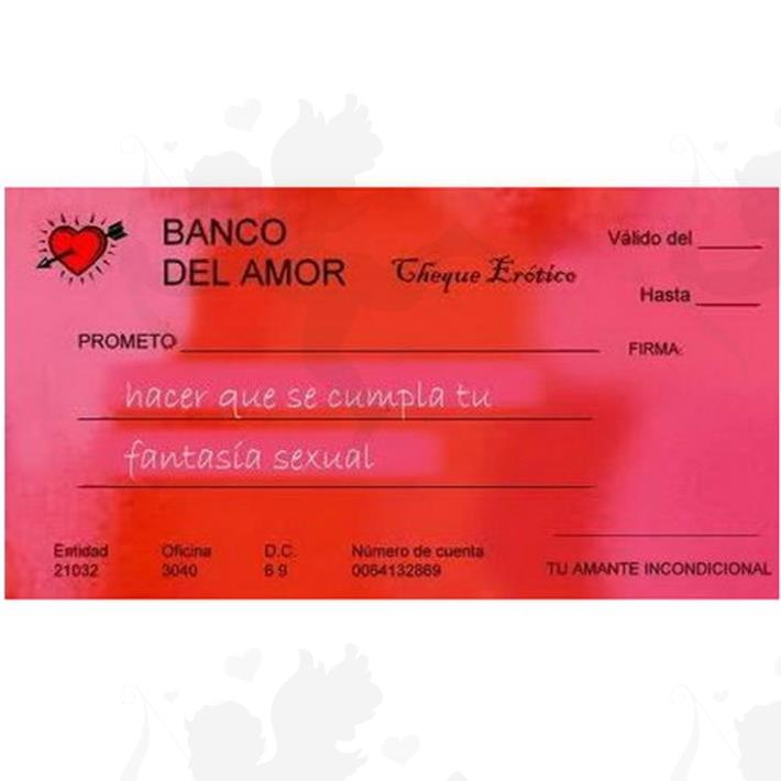 Cód: JUECHEQUERAS - Chequera Erotica - $ 220