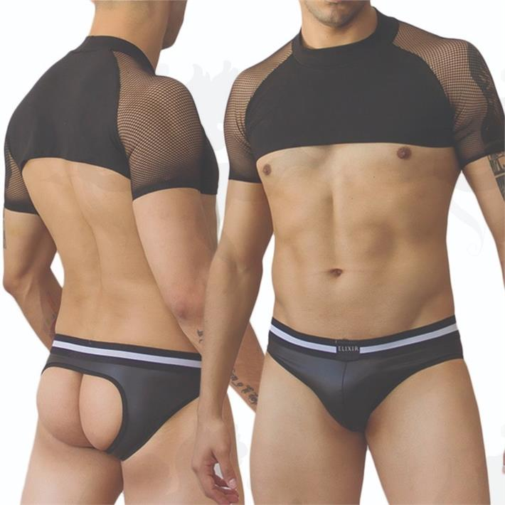 Cód: MX303 - Remera corta transparente de hombre - $ 1450