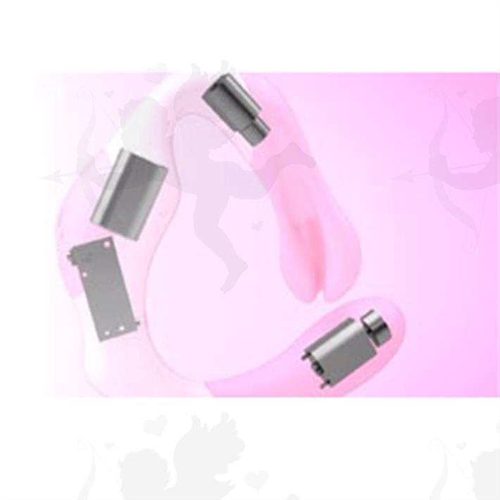 Estimulador de clitoris insertable con 2 motores y carga usb