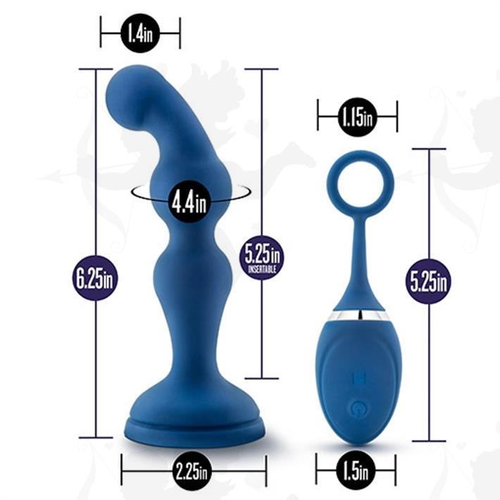 Vibrador anal con carga usb y control inalambrico