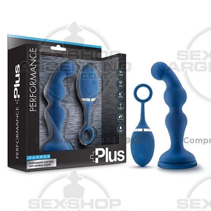 - Vibrador anal con carga usb y control inalambrico