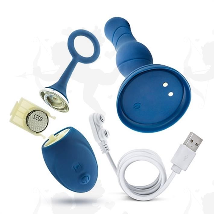 Plug anal con vibracion control inalambrico y carga usb