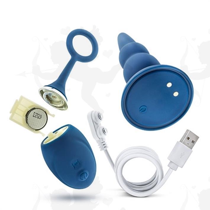 Dilatador anal con vibracion carga usb y control inalambrico