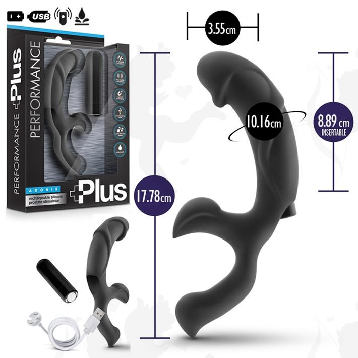 Cód: SS-BL-11715 - masajeador prostatico y estimulador punto g con vibro - $ 4990