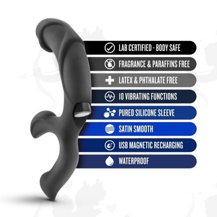masajeador prostatico y estimulador punto g con vibro