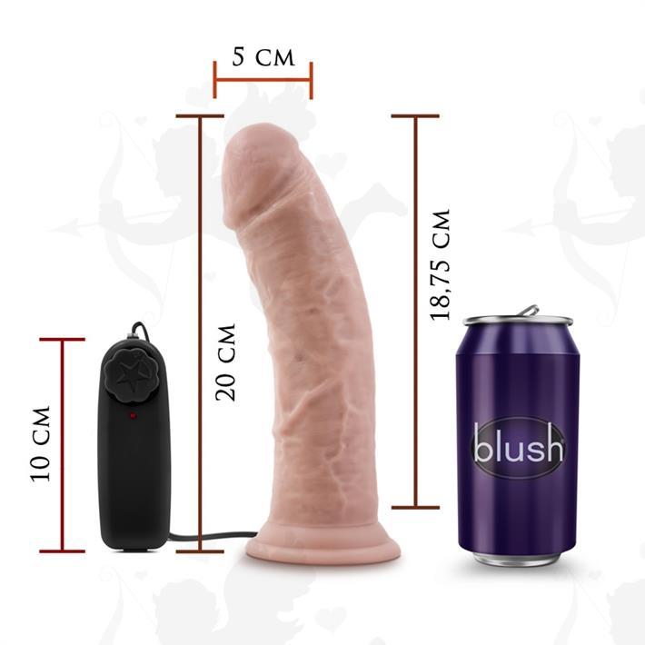Cód: SS-BL-13823 - Vibrador 8 pulgadas con sopapa - $ 5290
