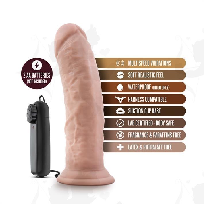 Vibrador 8 pulgadas con sopapa