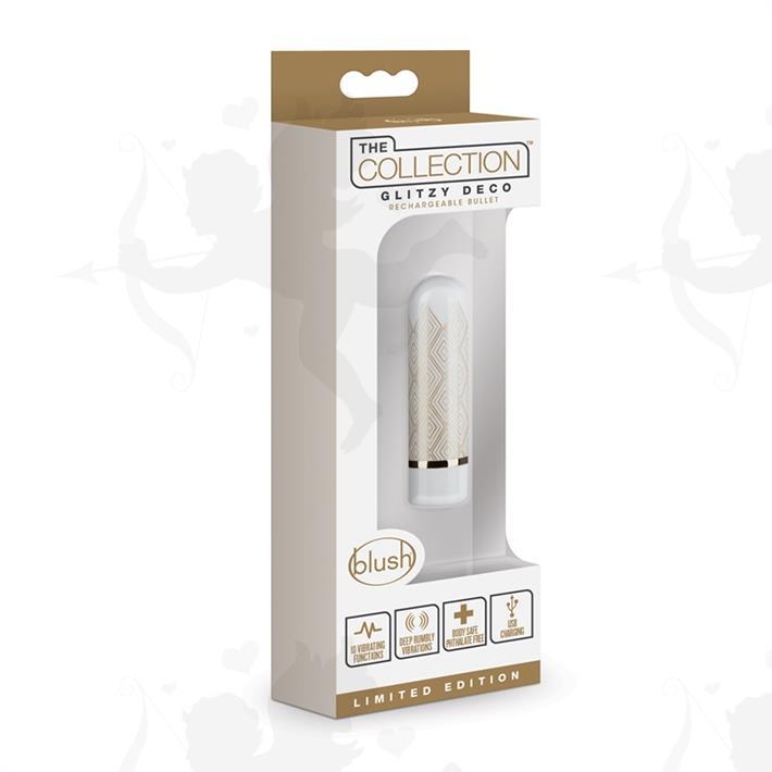 Bala vibradora con 10 potentes vibraciones y carga USB