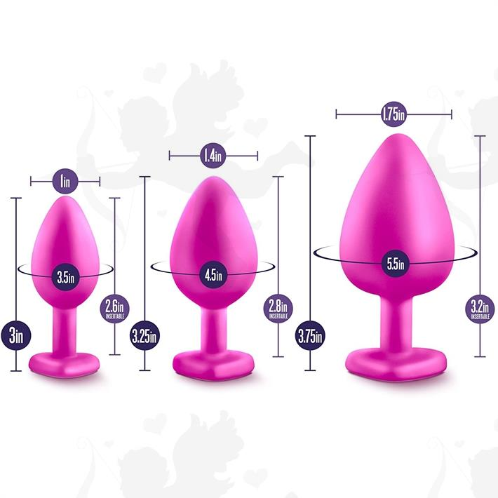 Kit de dilatadores anales rosa