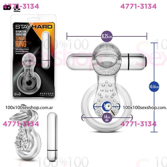 Cód: CA SS-BL-66912 - Anillo para retrasar la eyaculacion con potete vibrador - $ 2880