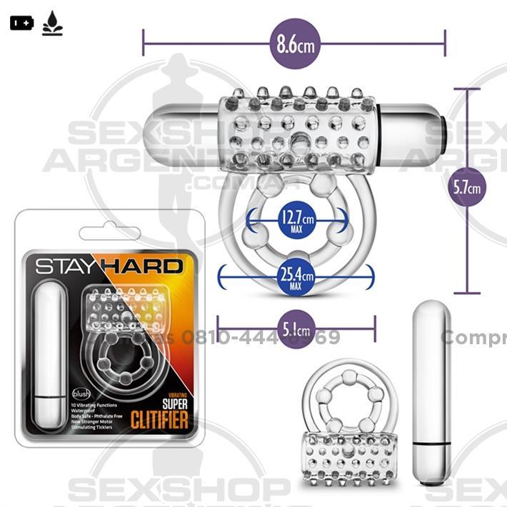 - Anillo retardador y estimulador con bala vibradora de 10 veloc.
