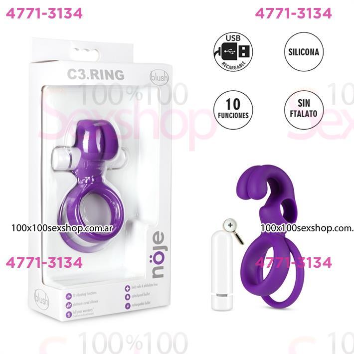 Cód: CA SS-BL-91401 - Anillo estimulador de clitoris y retrasador de la eyaculacion - $ 6200