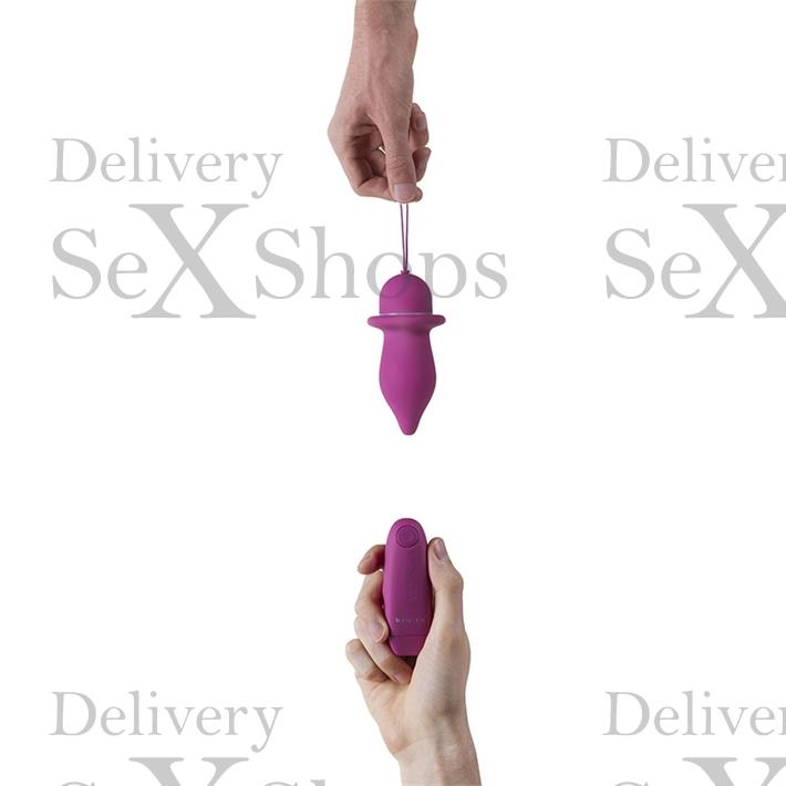 Vibrador anal inalámbrico satinado suave