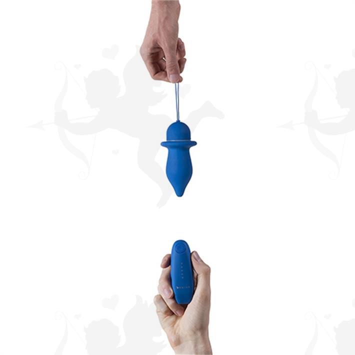 Vibrador anal satinado con control remoto