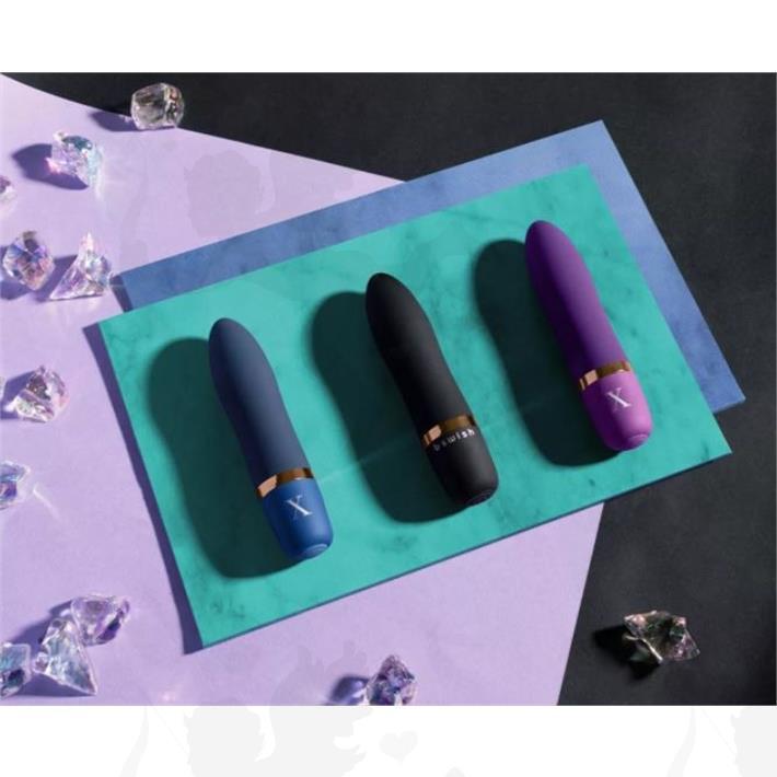 Vibrador aterciopelado Bcute sumergible violeta