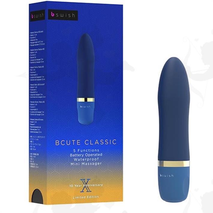 Vibrador aterciopelado Bcute sumergible azul