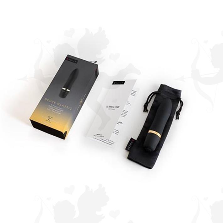 Vibrador aterciopelado Bcute sumergible negro