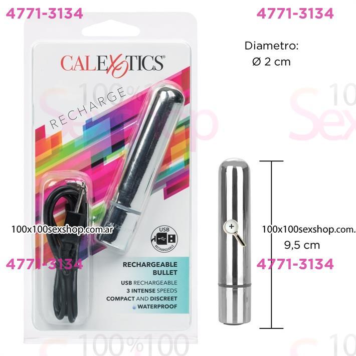 Cód: CA SS-CA-0062-10-2 - Mini bala vibradora con carga USB - $ 3530