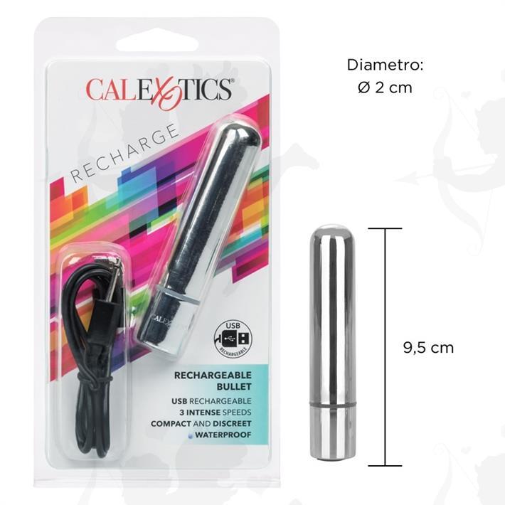 Cód: SS-CA-0062-10-2 - Mini bala vibradora con carga USB - $ 3530