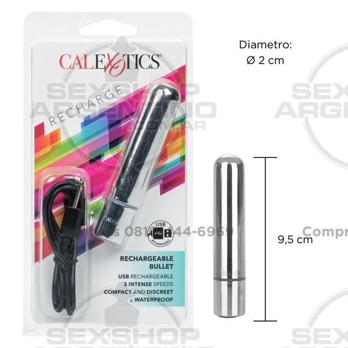 - Mini bala vibradora con carga USB