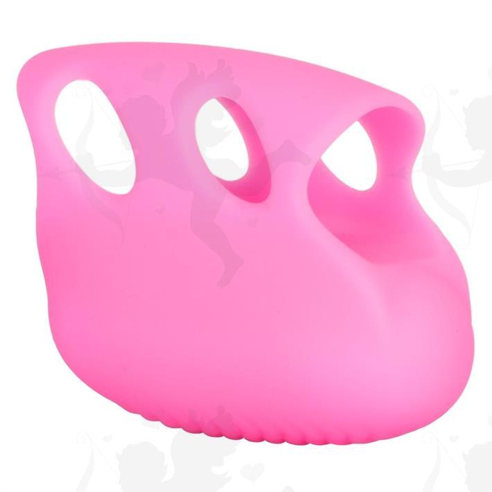 Estimulador vaginal con vibrador para dedo