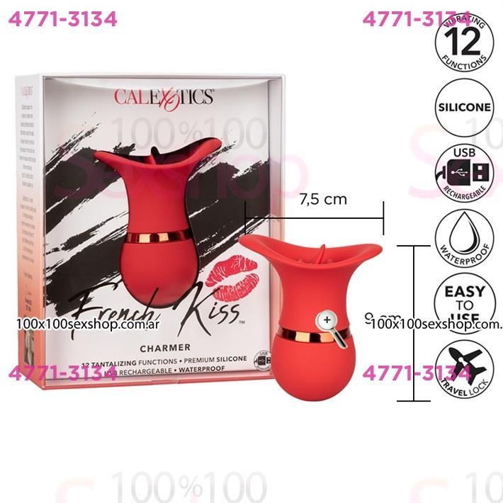 Cód: CA SS-CA-0608-10-3 - Masajeador vaginal French kiss con carga USB - $ 9580
