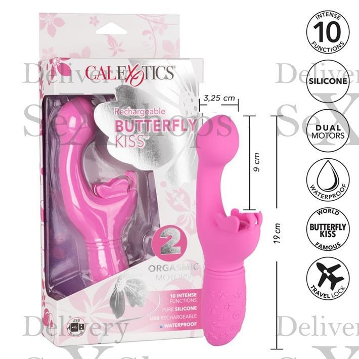Vibrador estimulador punto g con masejador de clitoris y carga USB