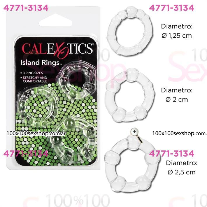 Cód: CA SS-CA-1429-00-2 - Kit de 3 anillos  - $ 1380