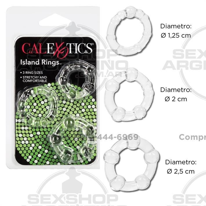 - Kit de 3 anillos
