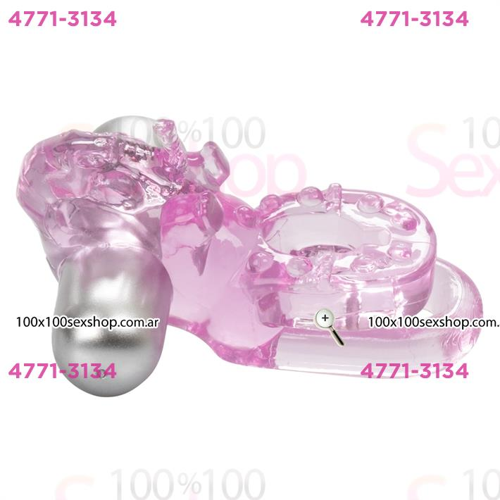 Cód: CA SS-CA-1808-10-3 - Anillo doble con vibrador y forma de elefante - $ 3490