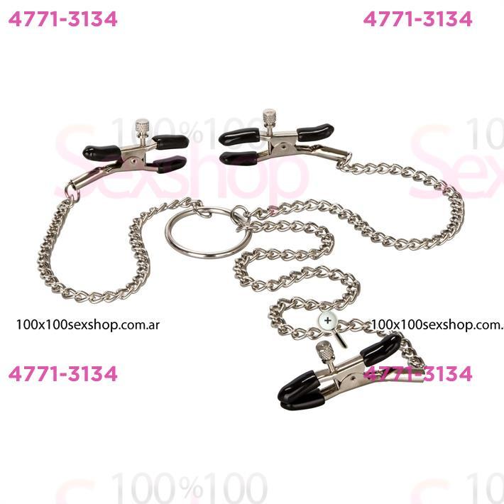 Cód: CA SS-CA-2590-60-2 - Triple pinza con cadena - $ 3600