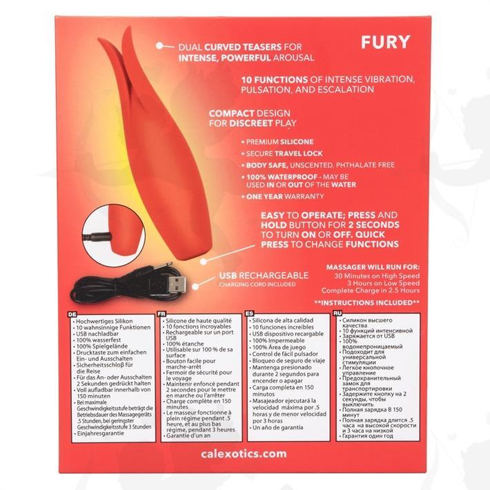Estimulador Red Hot Fury con carga USB y 10 velocidades