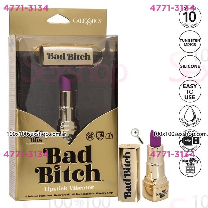 Cód: CA SS-CA-4410-00-3 - Vibrador lápiz labial Bad Bitch con carga USB - $ 4960