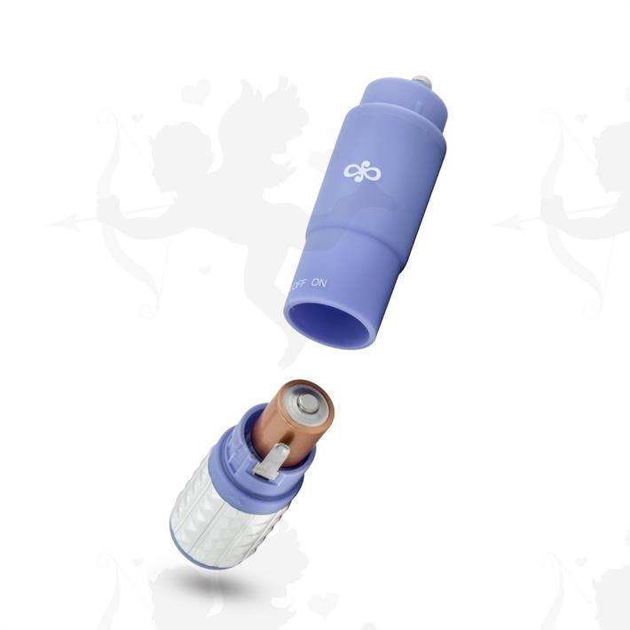Vibrador estimulador con 3 cabezas intercambiables