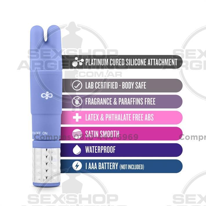 Estimuladores, Estimuladores femeninos - Vibrador estimulador con 3 cabezas intercambiables