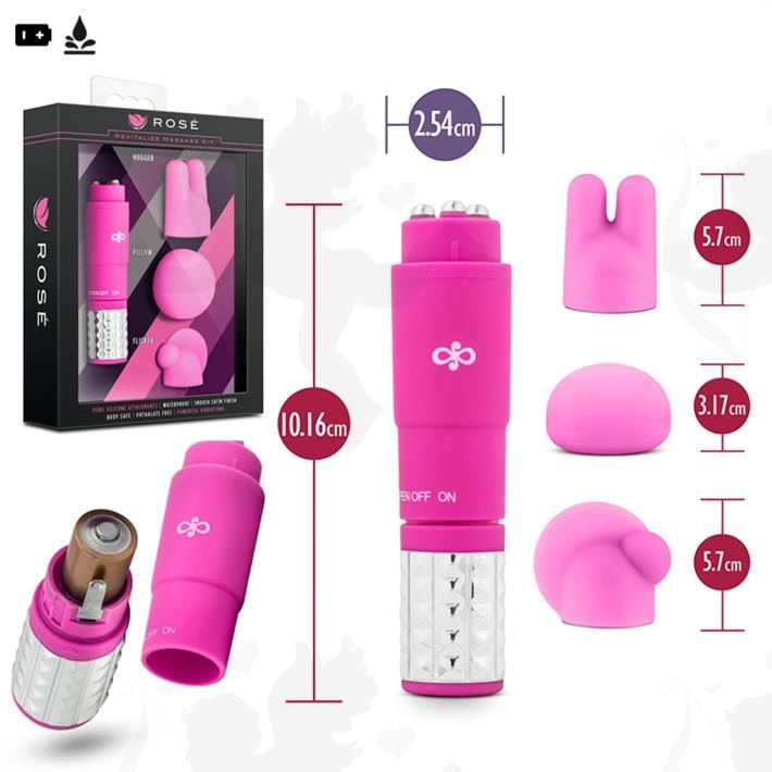 Cód: SS-ED-20815 - Vibrador estimulador con 3 accesorios intercambiables - $ 2880
