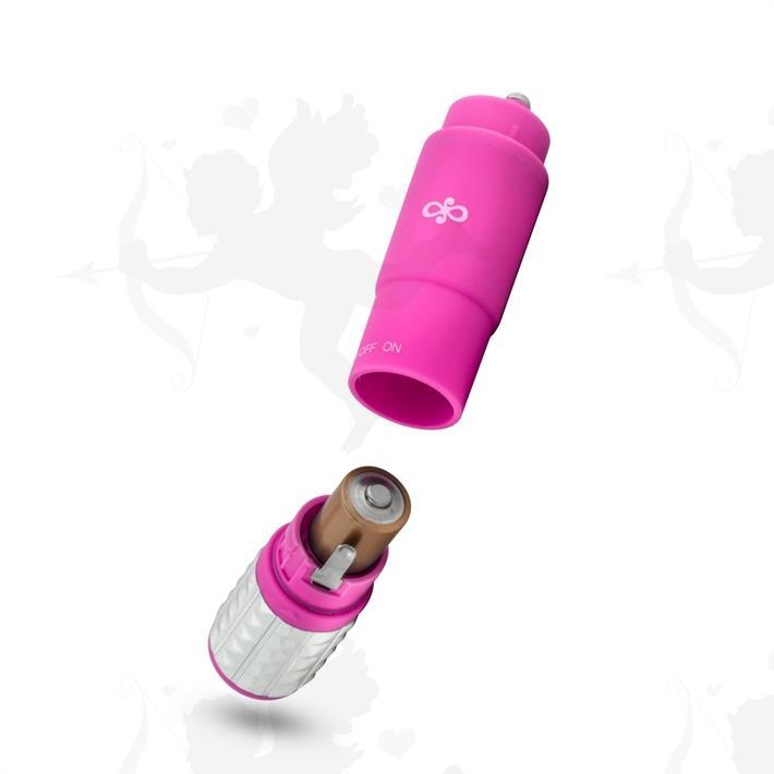 Vibrador estimulador con 3 accesorios intercambiables