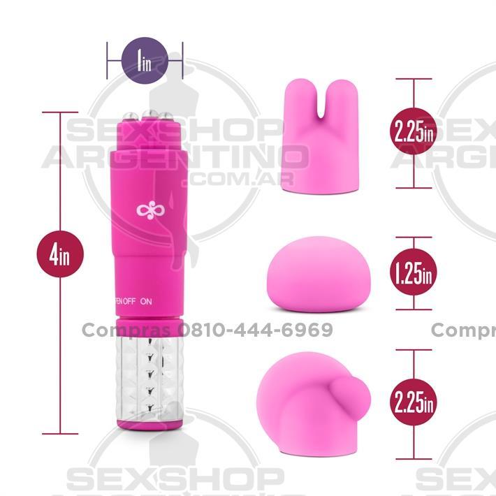 Estimuladores, Estimuladores femeninos - Vibrador estimulador con 3 accesorios intercambiables