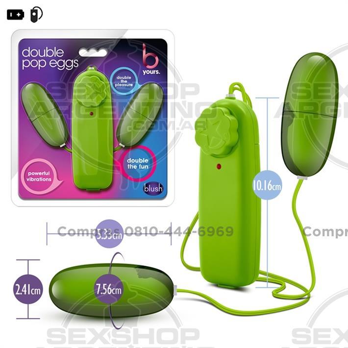 - Bala vibradora doble con control remoto sumergible