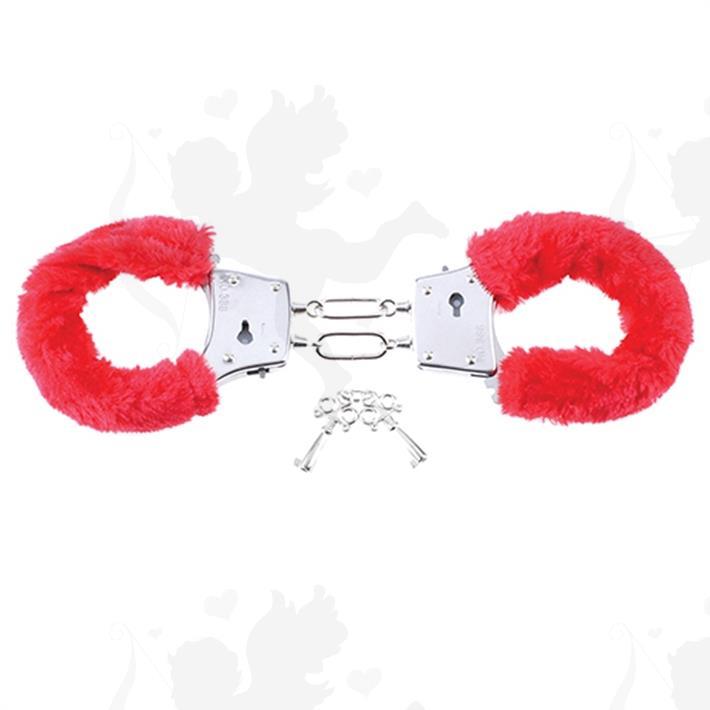 Esposas con peluche pipedream color rojo