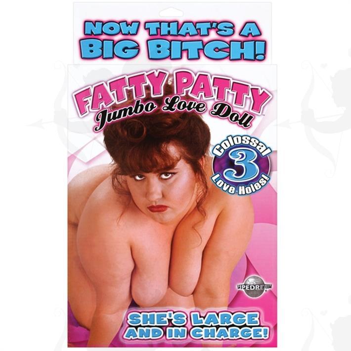 Muñeca inflable fatty 3 agujeros