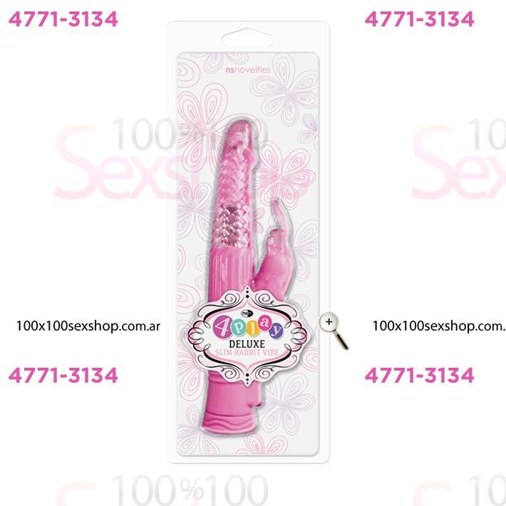 Cód: CA SS-NO-0330-14 - Vibrador Rotativo 4PLAY con estimulador de clítoris conejo - $ 3690