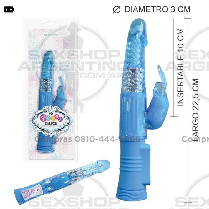 - Vibrador Rotativo 4PLAY con conejo estimulador de clítoris