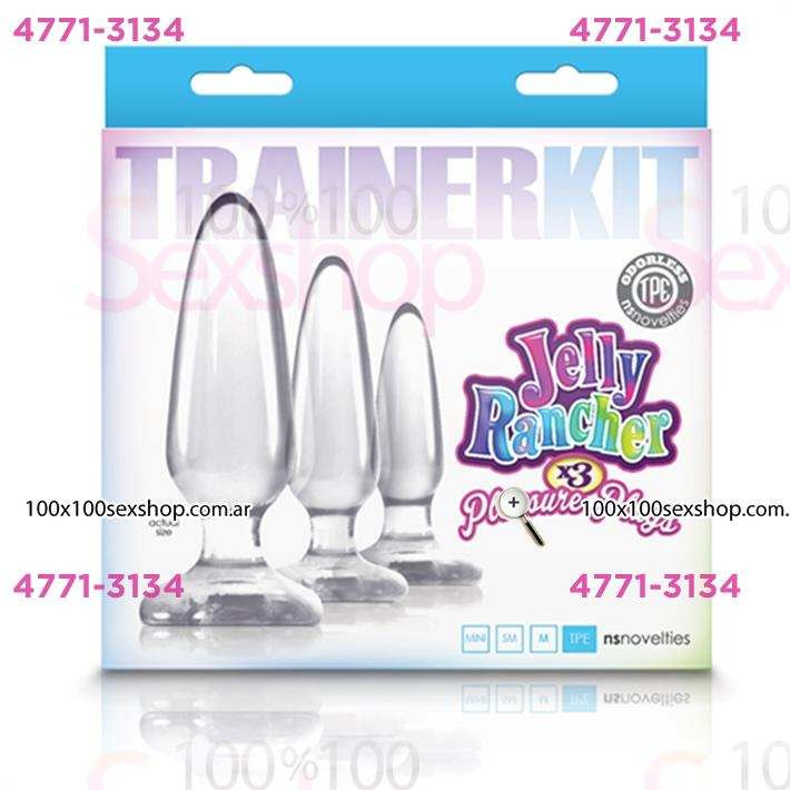 Kit de plugs anales transparentes